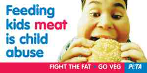 feeding kids meat is child abuse advert