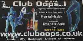 Club Oops advert