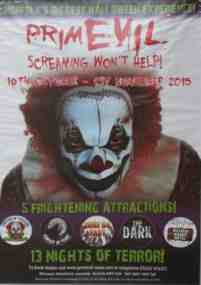 primevil clown poster advert