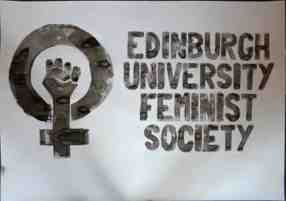 edinburgh university feminist society logo