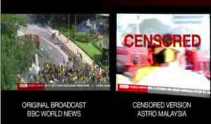 astro censorship of bbc news