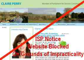 claire perry website blocked