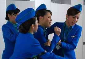 Airhostess catfight from Thai TV soap