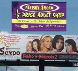 Sexpo and shop posters