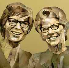 Collage of Cliff Richard and Mary Whitehouse