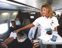 Airstewardess serving