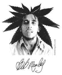 bob marley leaves